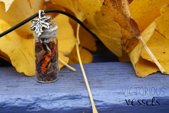 Our Autumn necklace. I love this photo!