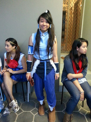 Full outfit photo! There's a Sailor Scout to the left and a Marceline to the right.