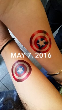 TEMP TATTOOS - TEAM CAP ALL THE WAY!